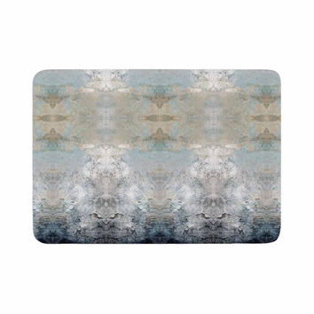 "Pia Schneider ""Heavenly Bird III"" Blue Pattern Memory Foam Bath Mat"