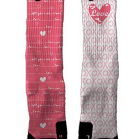 Valentines-Love NIKE ELITE Socks