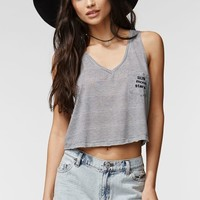 Kendall & Kylie Relaxed V-Neck Tank - Womens Tee - Black