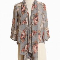 rising riviera floral cardi at ShopRuche.com, Vintage Inspired Clothing, Affordable Clothes, Eco friendly Fashion