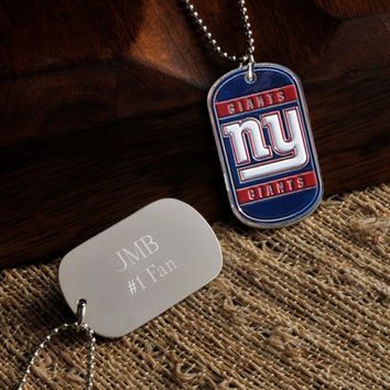 Personalized NFL Dog Tag - Giants