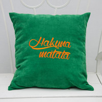 Hakuna Matata Pillow Covers Personalized Pillow Quote Pillowcase Decorative Pillow Cover Pillow cases Home Decor Throw Pillows Gift V25