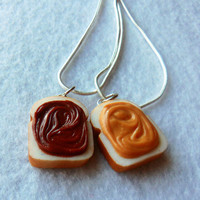 peanut butter and nutella best friend necklaces