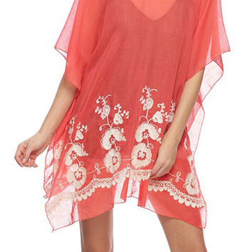 JChronicles Beach Cover Up with Embroidery