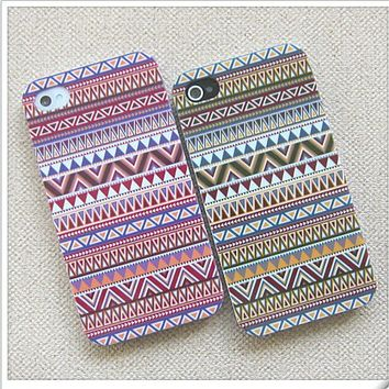 retro Tribal Hybrid Hard Case for iphone 4/4s