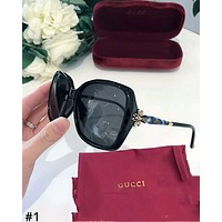 GUCCI 2019 new women's simple and versatile driving polarized sunglasses #1