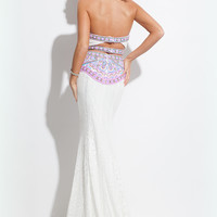 Rachel Allan 7150 Lace Sheath Prom Dress