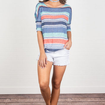 Hooked On Love Top, Blue