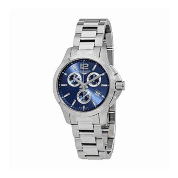 Longines Conquest Chronograph Blue Dial Ladies Watch L3.379.4.96.6