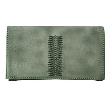 Latico Cameron Wallet in Washed Green