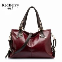 2017 Trendy Women Handbag Vintage Women Genuine Leather Handbag Fashion Shoulder Bag Hot Messenger Bags New Crossbody Bag Bolsas