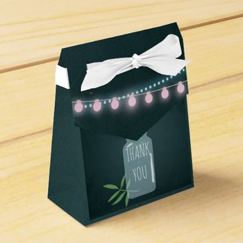Pink and blue Cosmos floral chalk Wedding Favor Favor Box