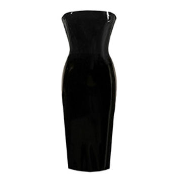 Couture Latex Strapless Pencil Dress | Atsuko Kudo