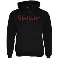 Halloween Horror Redrum Black Adult Hoodie