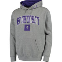 NYU Violets Arch & Logo Pullover Hoodie - Gray