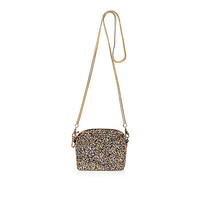 Gold glitter mini chain hangbag - clutch bags - bags / purses - women