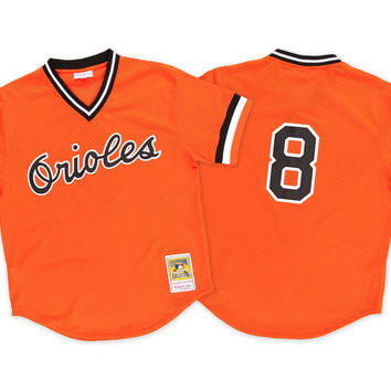 Mitchell & Ness Cal Ripken 1988 Authentic Mesh BP Jersey Baltimore Orioles In Orange