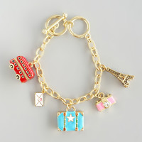 London to Paris Charms Bracelet