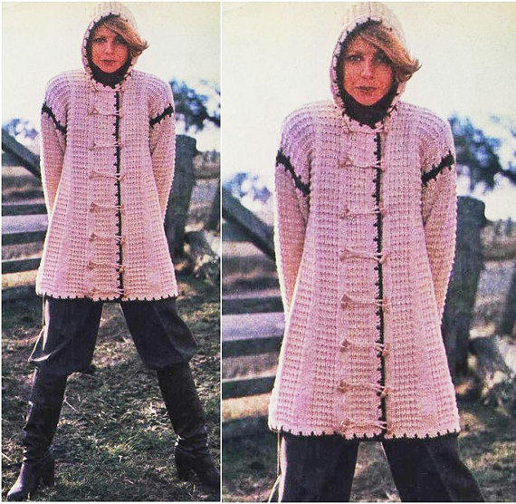 Knitting CARDIGAN Pattern Vintage 60s From Liloumariposa On Etsy Mesmerizing Crochet Long Cardigan Pattern