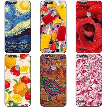 "Luxury Printing Case For ZTE Blade Z Max Z982 6.0"" Art Printed Flower Cell Phone Cover Rose Funda Cute Animal Coque"
