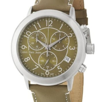 Calvin Klein Jeans K8717174 Men's Continual Chronograph Watch Olive Green