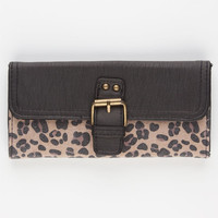 T-Shirt & Jeans Cheetah Print Wallet Black Combo One Size For Women 22492014901