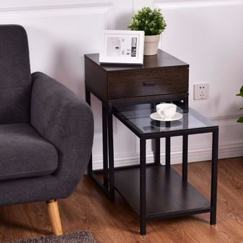 Nesting Coffee Side Table End Table