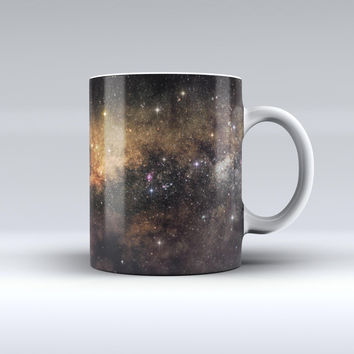 The Gold Aura Space ink-Fuzed Ceramic Coffee Mug
