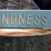 Shabby Chic Sign - Kindness Sign - Rustic Decor - Be Kind - Gifts Under 20 - Kindness Matters - Kindness Decor