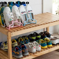 Convenient practical multi-function vertical shoe storage rack drying plastic display stand shoe shelves hanger rack organizer