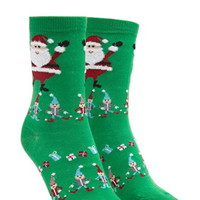 Santa Claus Graphic Socks