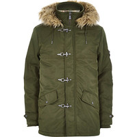 River Island MensGreen Only & Sons parka jacket