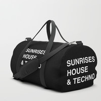 Sunrise, House & Techno Duffle Bag by paulosilveira