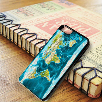 Blue Color World Map iPhone 6 | iPhone 6S Case