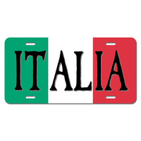 Italia Flag Italy Italian Novelty License Plate