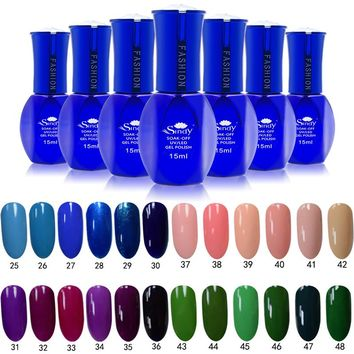 Meicalin 15ML  Pure Colors Gel Varnish Gel Nail Polish Nail Gel Polish Art Vernis Permanent UV Soak-Off Nail Gel Polish