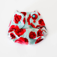 The Stitching Stork one size OS pocket cloth diaper -Rosey dream