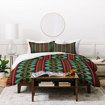 Andi Bird Primitive Beat Morocco Duvet Cover