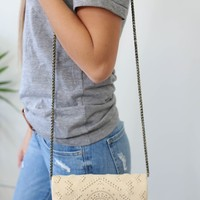 Montezuma Convertible Clutch - Buttercream