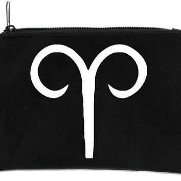 Zodiac Aries Sign Cosmetic Makeup Bag Astrology Horoscope The Ram