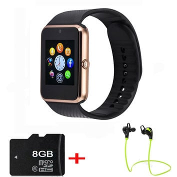 GT08 Smart Watch for android Bluetooth 3.0 Support Sim TF card Sync Notifier Connectivity Bluetooth phone call