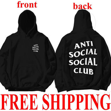 Unisex Hoodies AntiSocial Social Club Hoodie Anti Social Social Club Hooded Kanye Sweatshirts Men's Women's Sweatshirts Hot