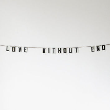 """love without end   vintage modern bunting   2"""""""