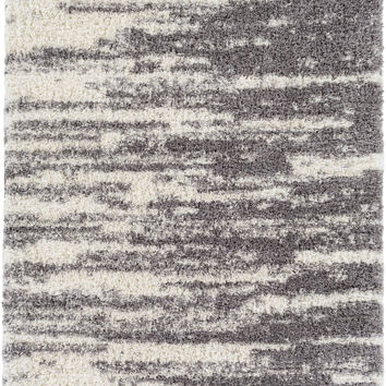 Surya Winfield Shag Area Rug Gray, Neutral