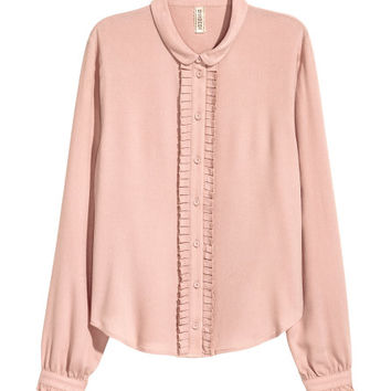 Blouse with Ruffles - from H&M