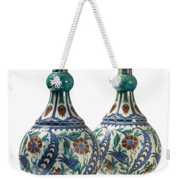 An Ottoman Iznik Style Floral Design Pottery Polychrome, By Adam Asar, No 21 - Weekender Tote Bag