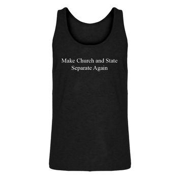 Mens Make Church and State Separate Again Jersey Tank Top