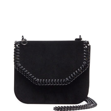 Stella McCartney Falabella Velvet Box Crossbody Bag, Black