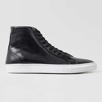 Black Leather Hi Top Trainers - Men's Casual Shoes - Shoes and Accessories