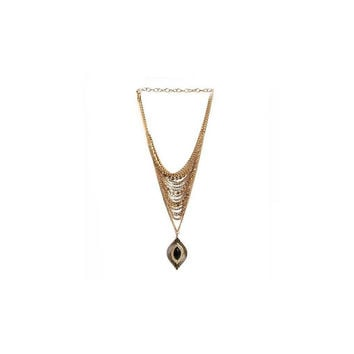 Cool Coverage Necklace in Onyx and Gold